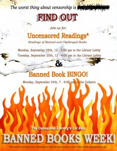 Banned Books Week at Marist College  Uncensored Readings   Banned Book  Bingo September 24   12 00 pm – 4 00 pm EDT 49332ee77e42d
