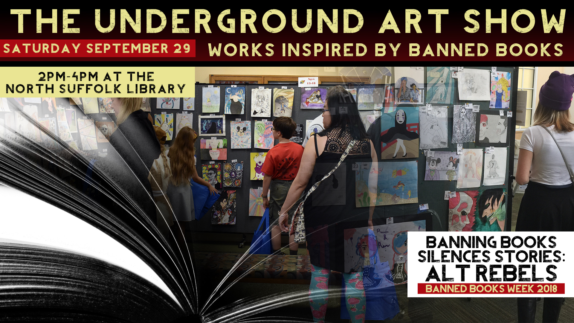 7bdb0dffa2 The Underground Art Show  Works Inspired by Banned Books