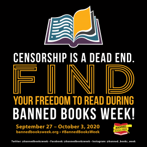 Banned Books Week 2020 square logo